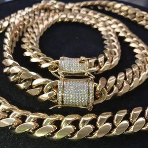 Other - Mens Cuban Miami Link Bracelet & Chain Set